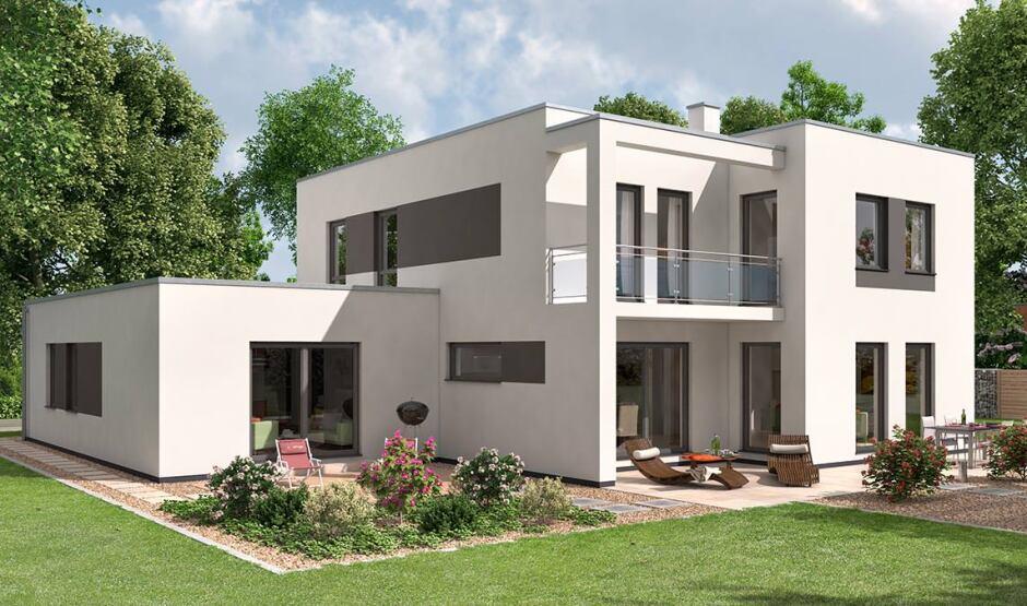 moderner kubus als mehrgenerationenhaus zur markteinf hrung zum aktionspreis. Black Bedroom Furniture Sets. Home Design Ideas