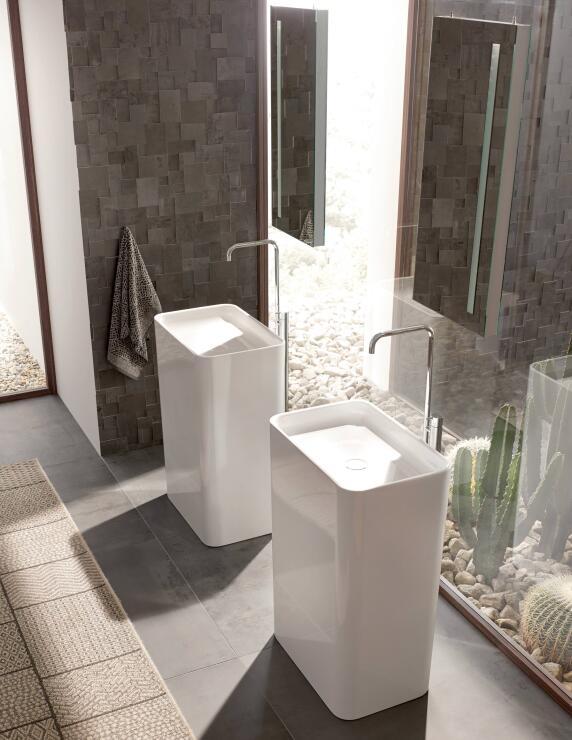 skulptural neuer freistehender waschtisch betteart monolith. Black Bedroom Furniture Sets. Home Design Ideas