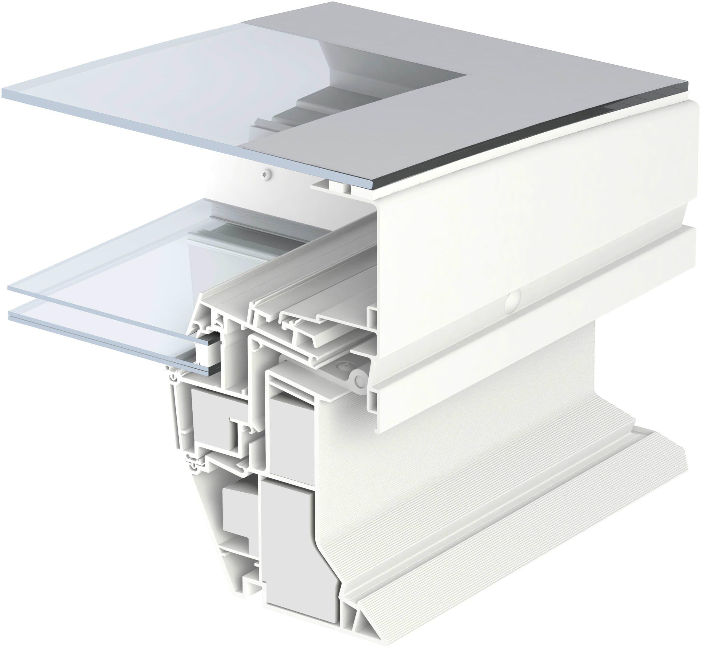 """Flachdach fenster detail  Konvex-Glas"""": das neue Flachdachfenster von Velux ist gebogen und ..."""