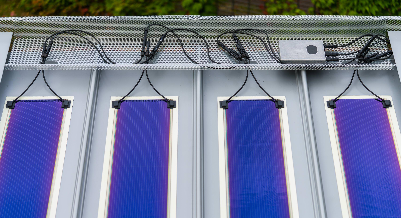 Leichte Solarfolie Neu F 252 R Rib Roof Metalldachsysteme