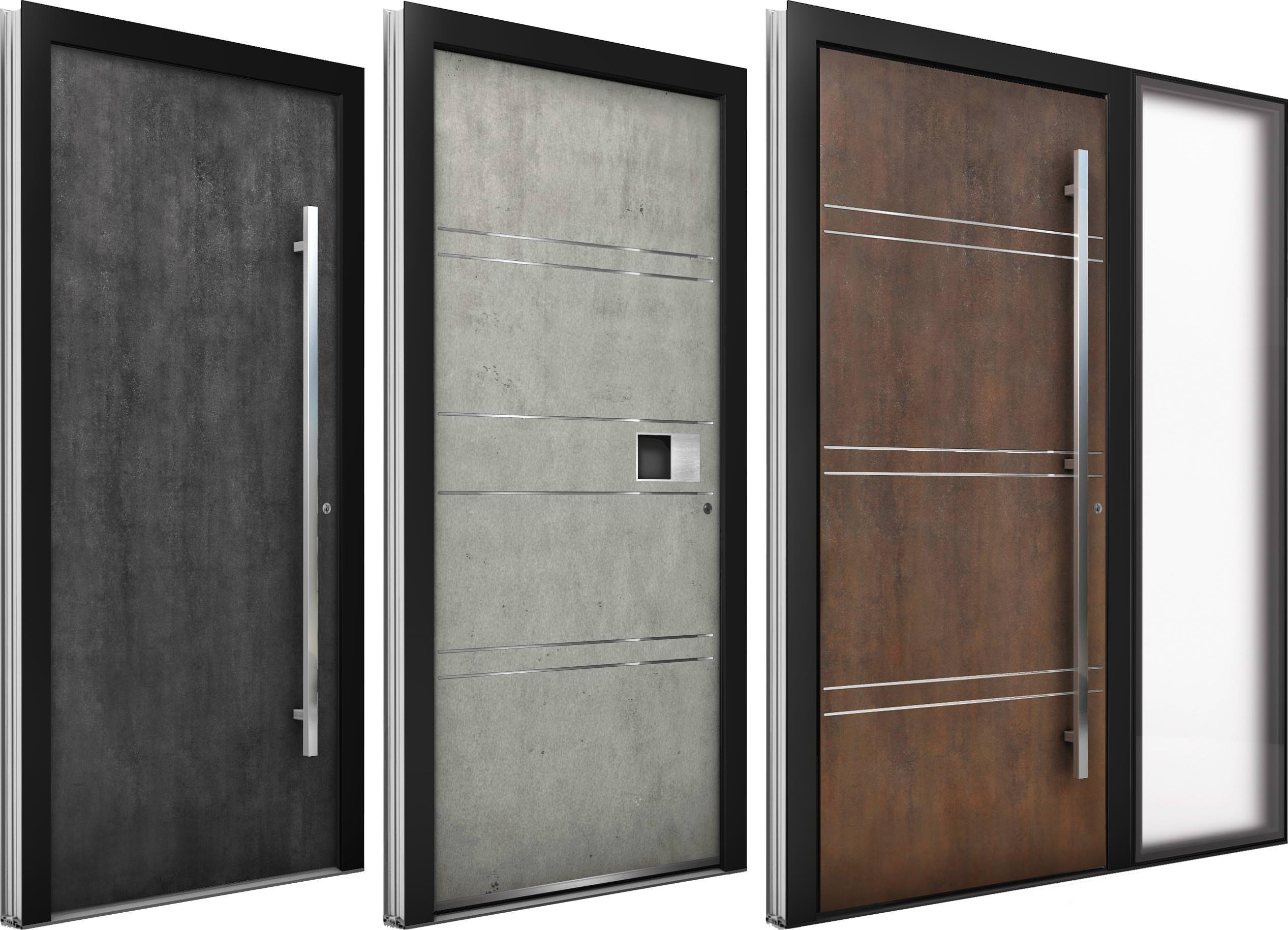 Schön Haustüren Bilder Referenz Von Türen Mit Eher Ungewöhnlichen Oberflächen Und Rahmenlosen