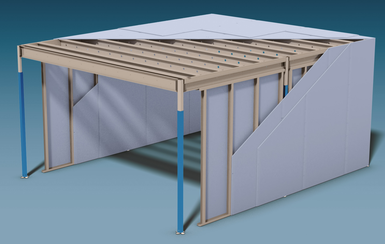 trockenbau plus wenn knauf stahl leichtbau ins spiel bringt. Black Bedroom Furniture Sets. Home Design Ideas