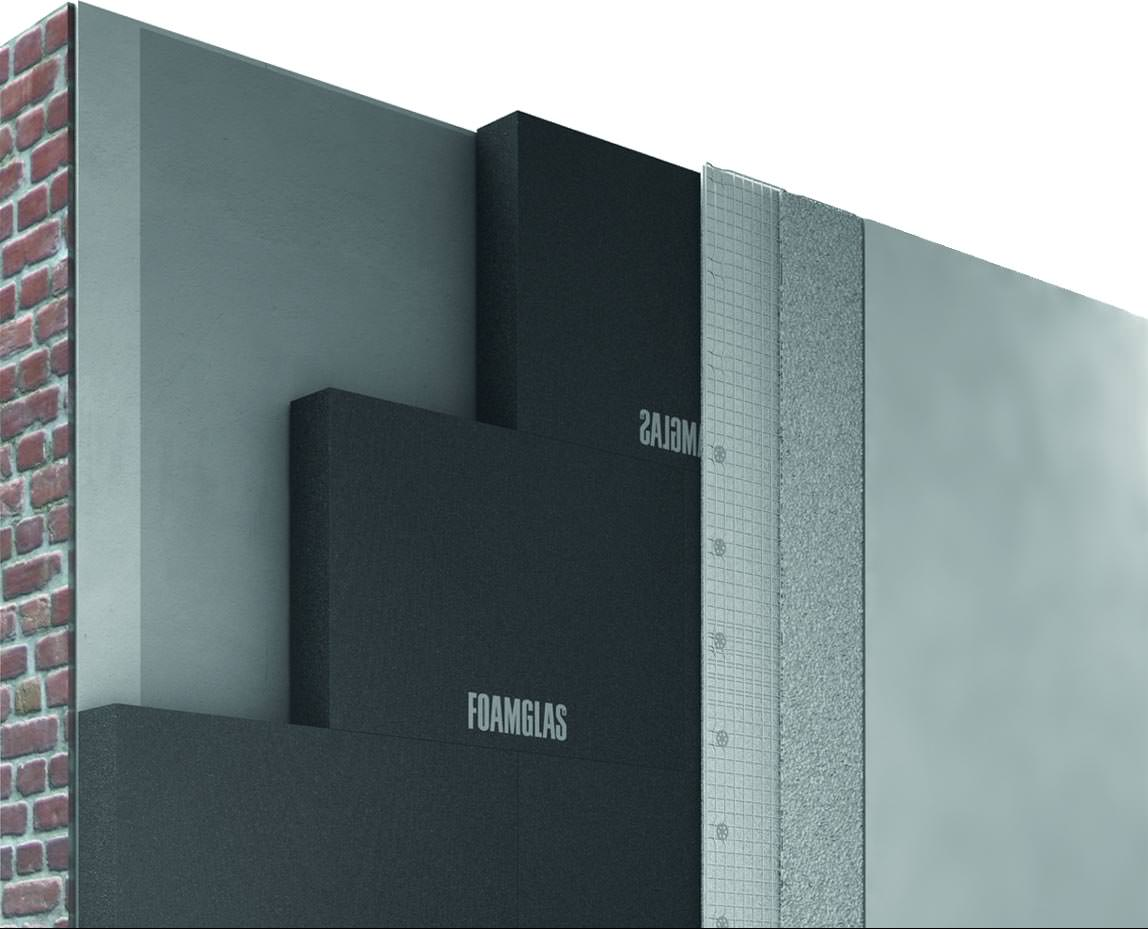 foamglas innend mmsystem wird weiter ausgebaut mit putz bis zur oberfl chenqualit t q4. Black Bedroom Furniture Sets. Home Design Ideas