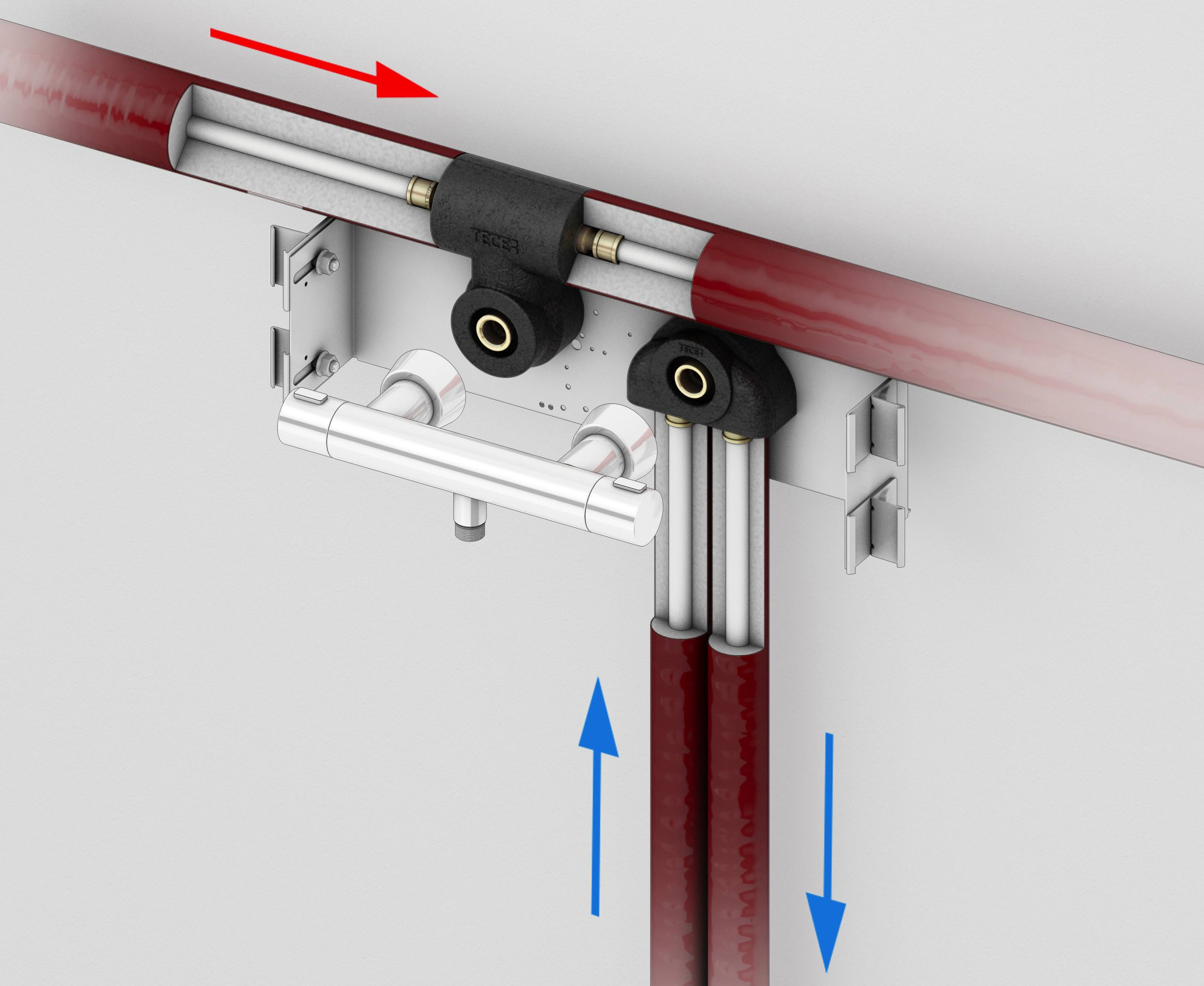 2 neue montagebl cke zur vermeidung einer kritischen w rme bertragung aufs kaltwasser - Piatto doccia piastrellabile ...