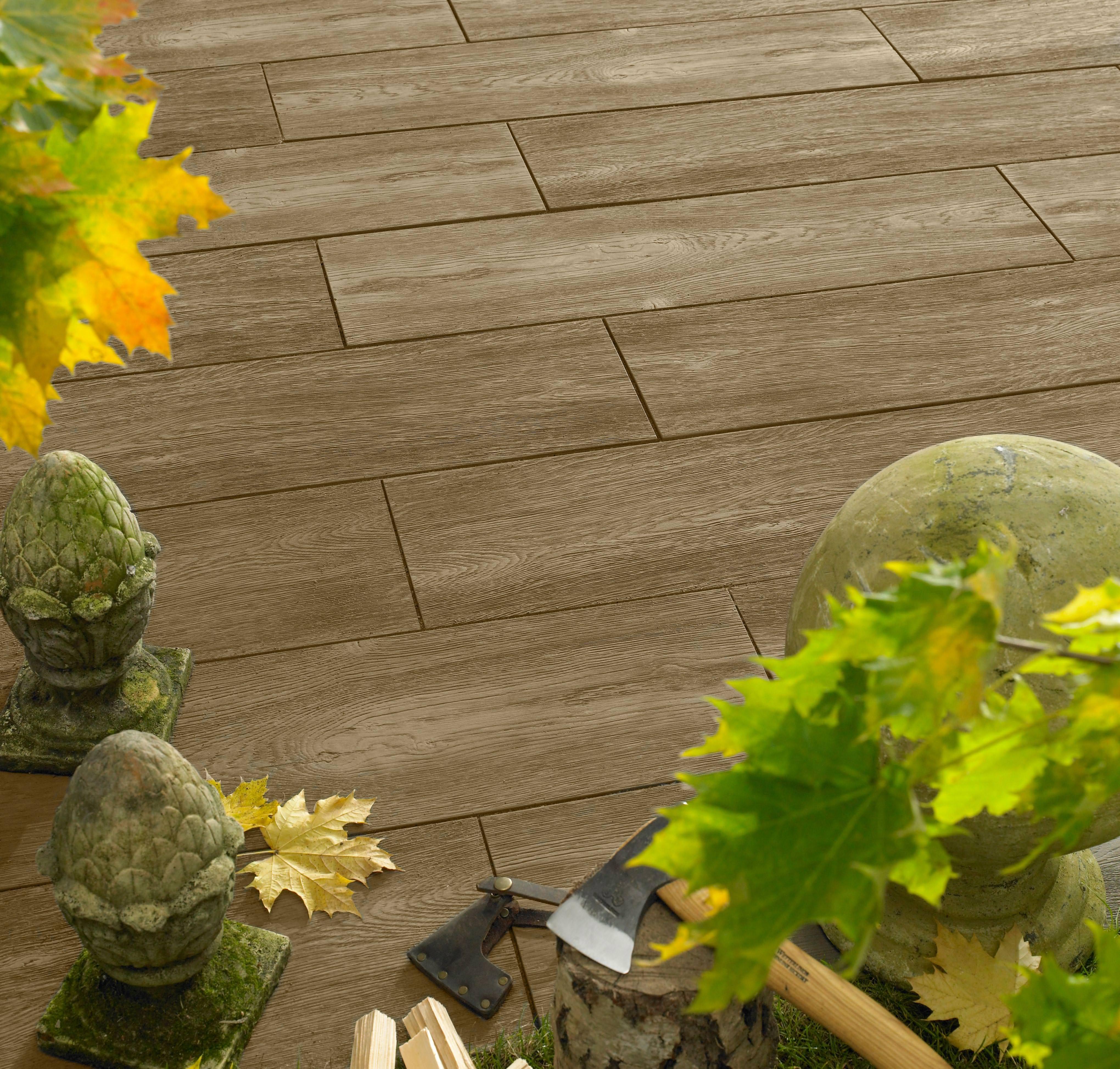 bradstone logplank neue betonplatten in holzdielenoptik. Black Bedroom Furniture Sets. Home Design Ideas