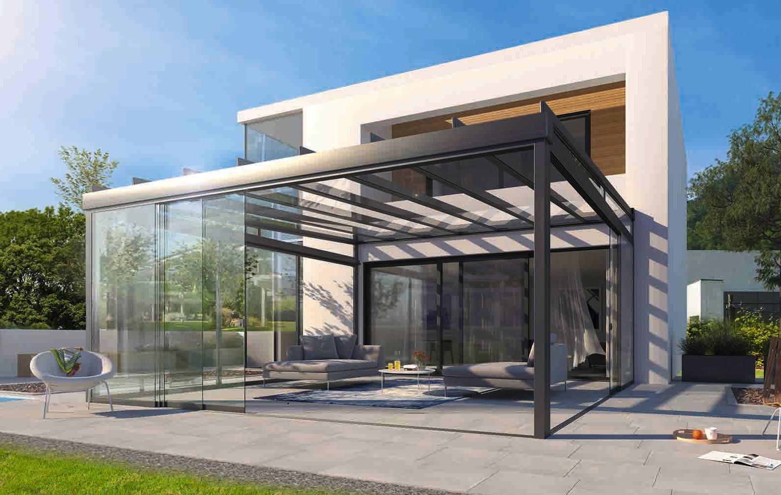 area wohnraumerweiterung mit terrassendach systemen la leiner. Black Bedroom Furniture Sets. Home Design Ideas