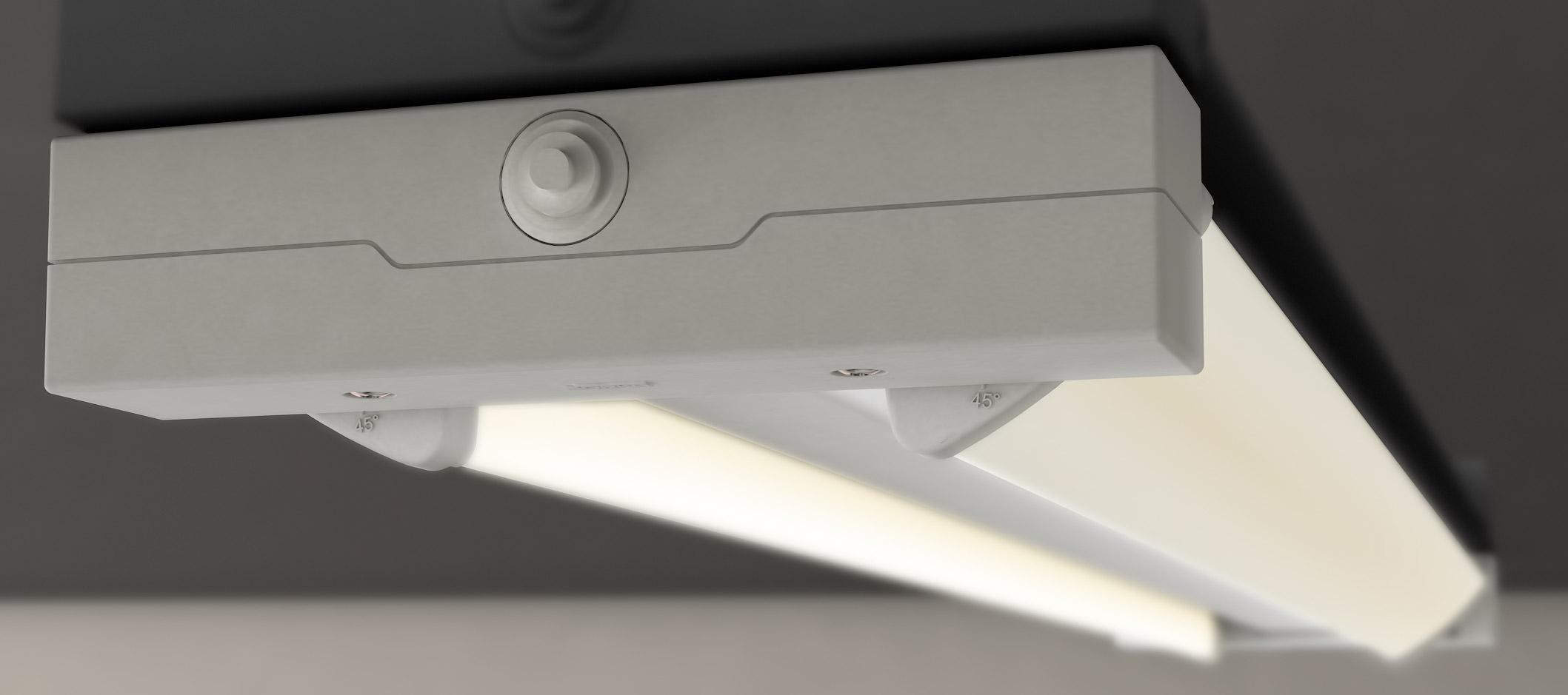 genf neue flache ip65 leuchtenserie von norka mit zwei bis zu 180 schwenkbaren schutzrohren. Black Bedroom Furniture Sets. Home Design Ideas