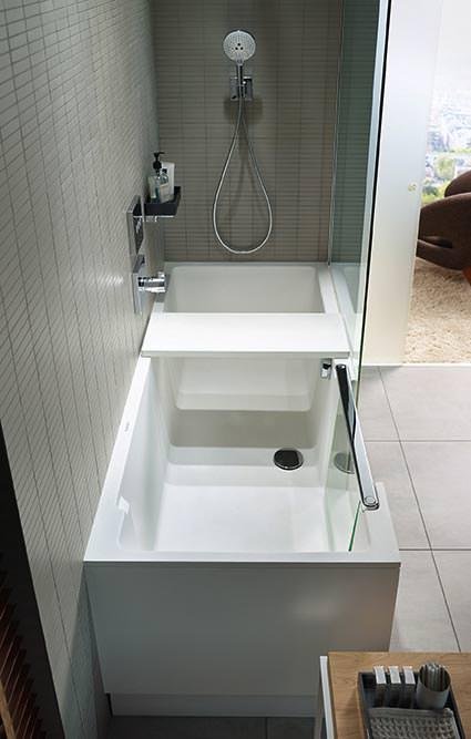 Shower + Bath: Walk-In-Dusche und Badewanne à la Duravit
