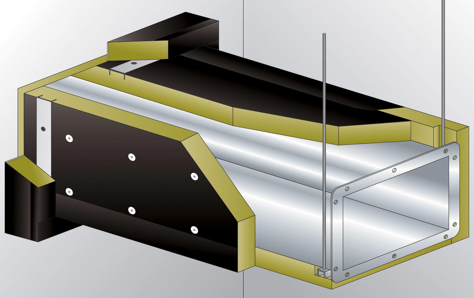 conlit duct board 90 schlanke steinwolle platten zur d mmung von l ftungskan len aus stahlblech. Black Bedroom Furniture Sets. Home Design Ideas