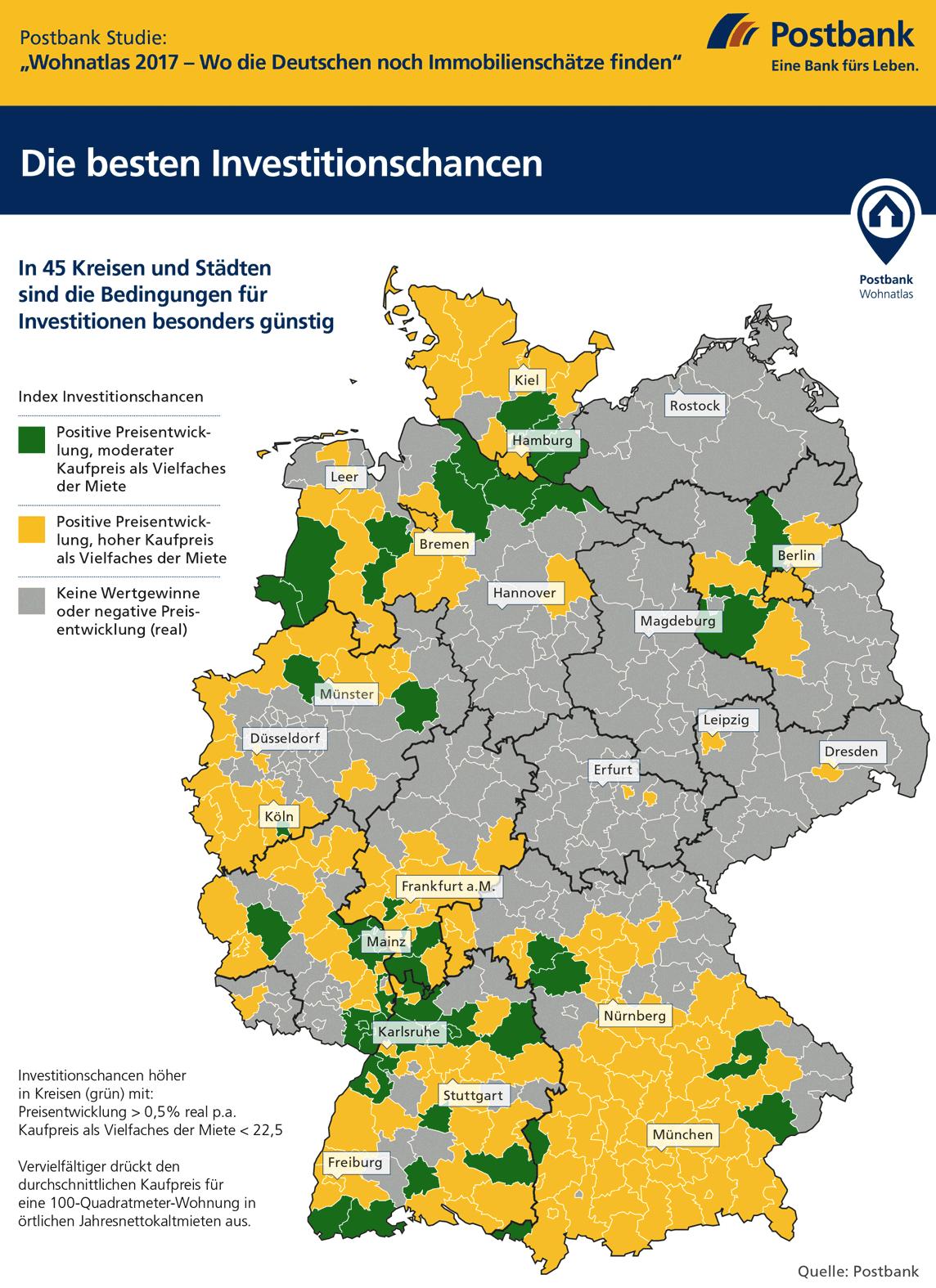 Immobilienpreise Ulm postbank wohnatlas 2017 wo finden sich noch immobilienschätze
