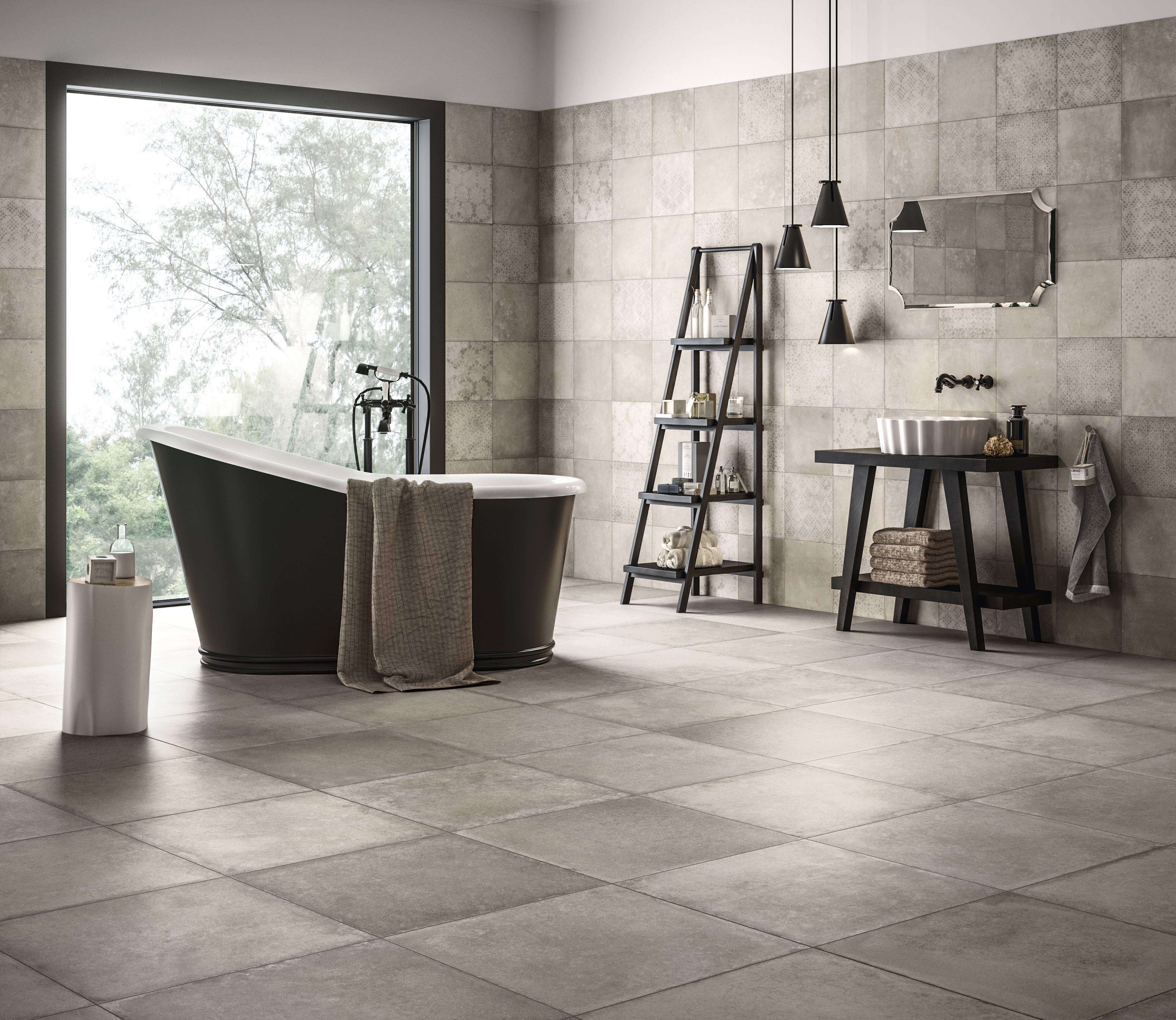 craft und epoque neue bodenfliesen im industrial look von ceramiche refin. Black Bedroom Furniture Sets. Home Design Ideas