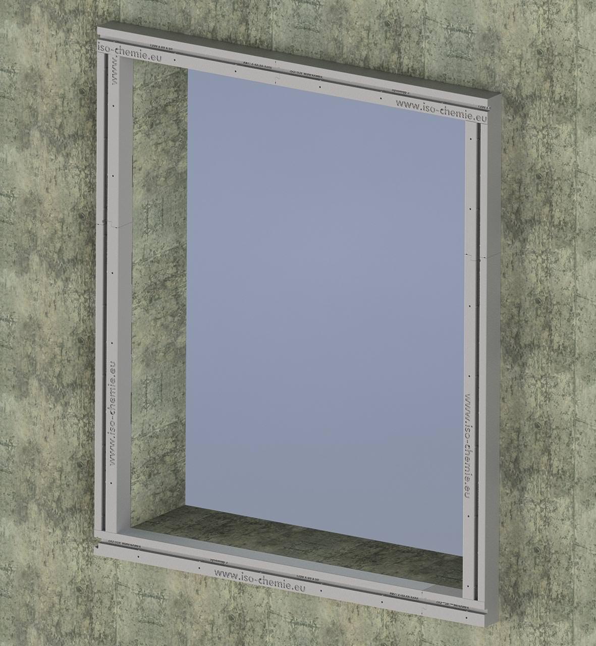"""Bekannt Typ 3"""": ISO-Chemies Vorwandmontagesystem für große Fensterelemente AB94"""