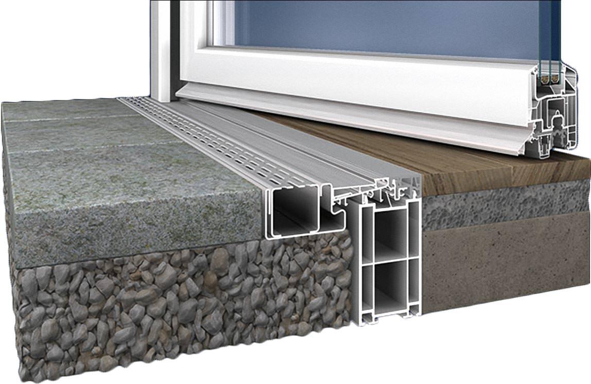 Schwelle Ohne Schwelle Easystep Fur Balkon Und Hausturen Mit 0 Cm