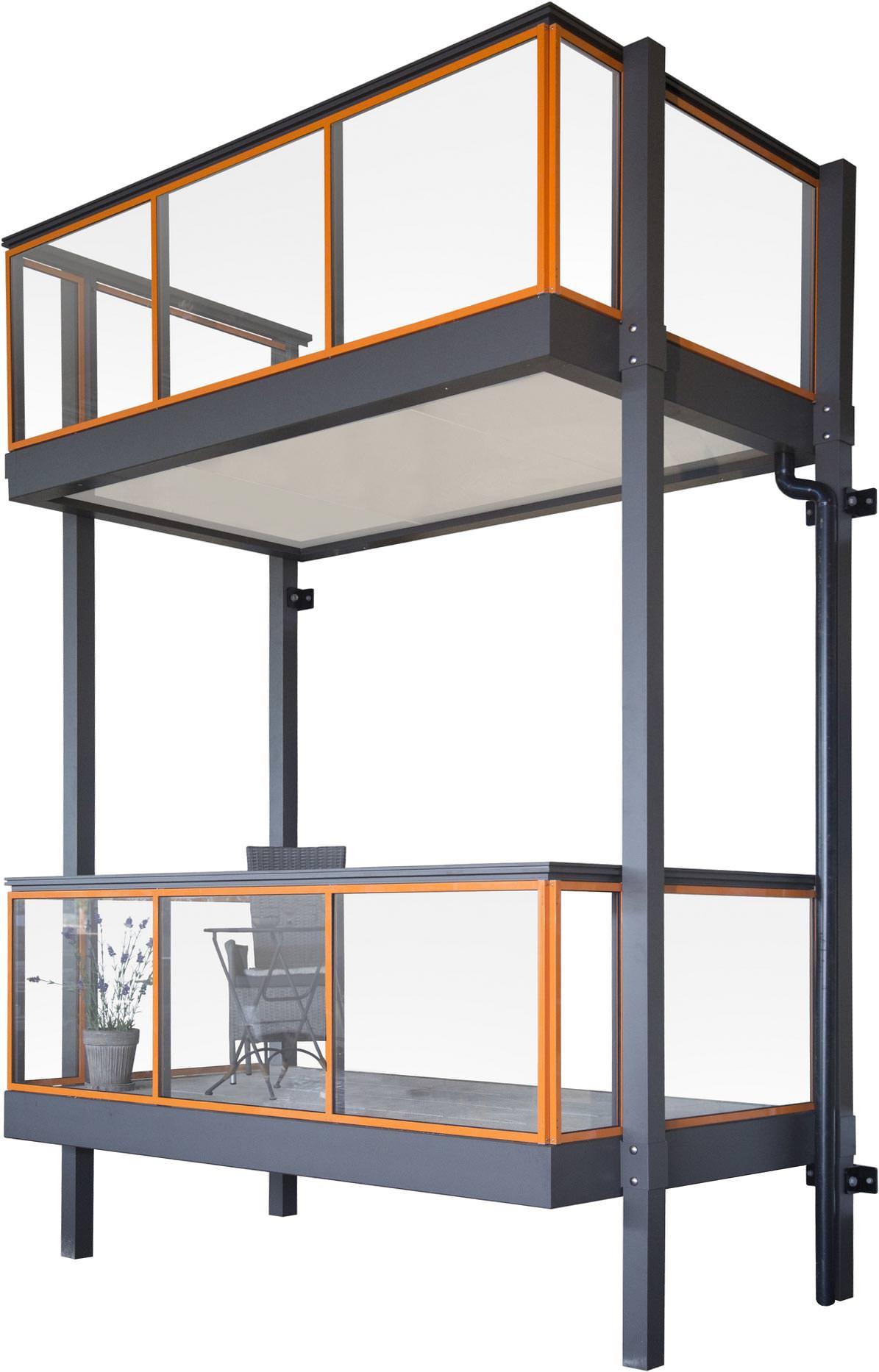 Aluone Ein Balkon Aus Aluminium In Selbsttragender Bauweise