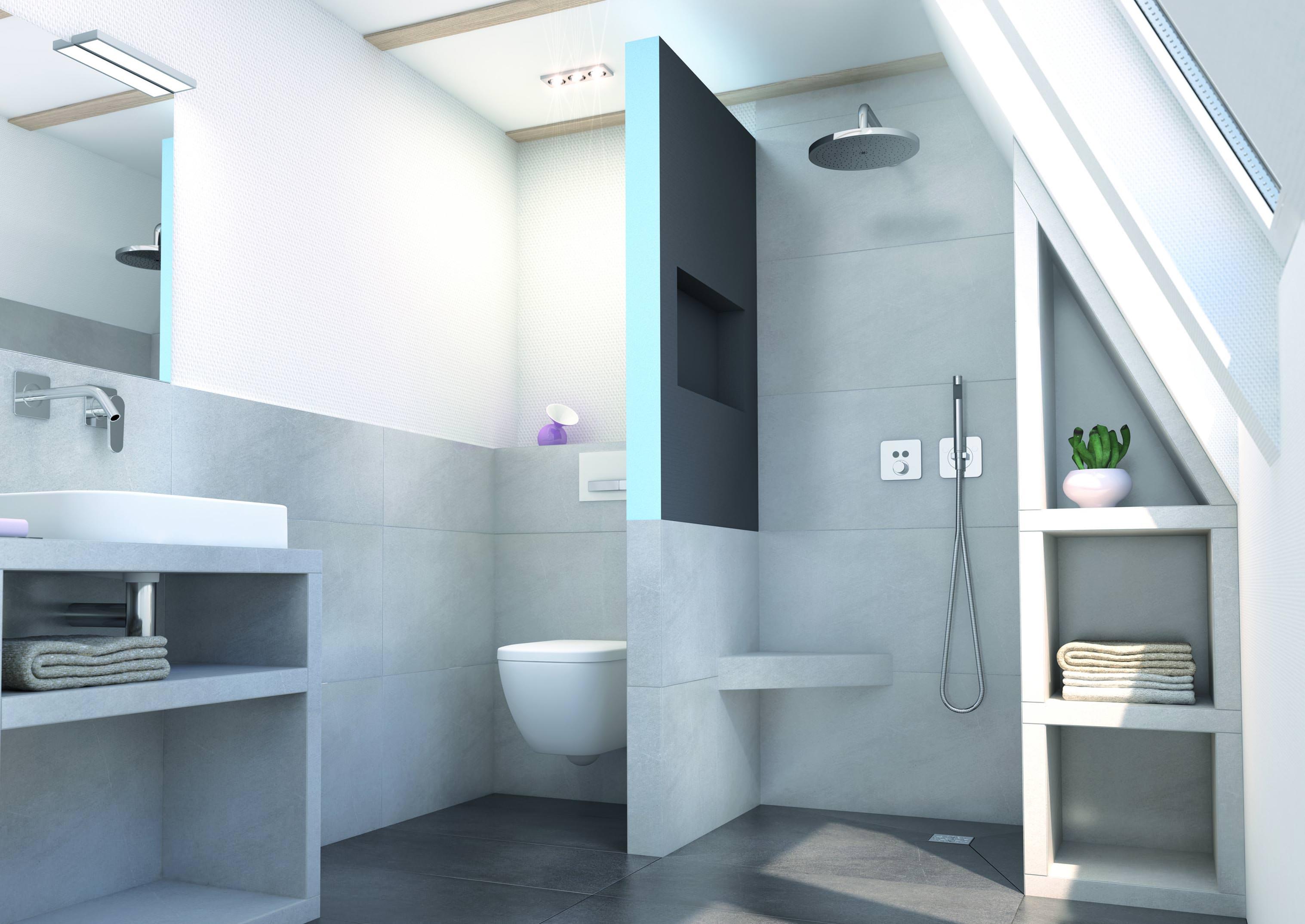 Wedi Sanwell: Wandelement mit integrierter Nische für Badezimmer