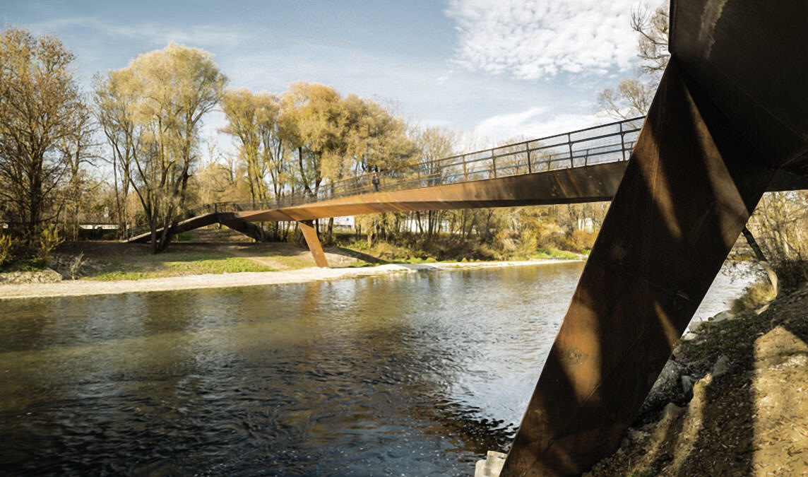 Isarsteg Nord – Fuß- und Radwegbrücke, Freising