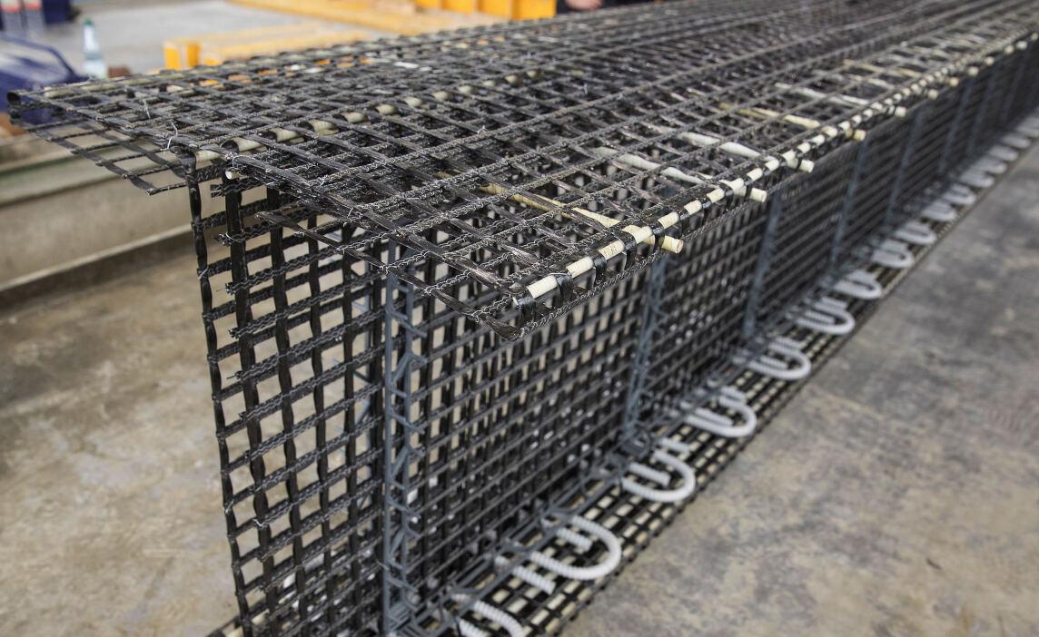 Geflecht aus Carbon anstatt Stahl als Bewehrung