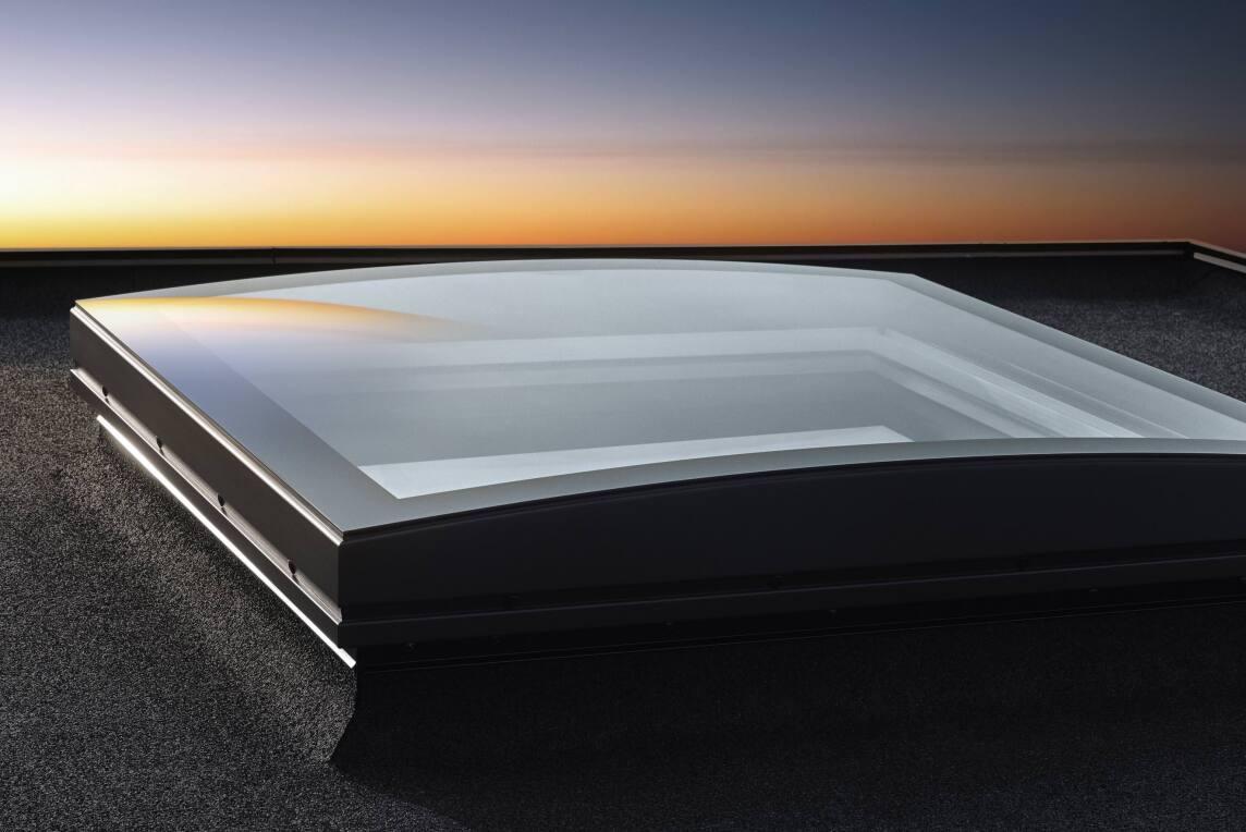 Flachdach-Fensters Konvex-Glas von Velux