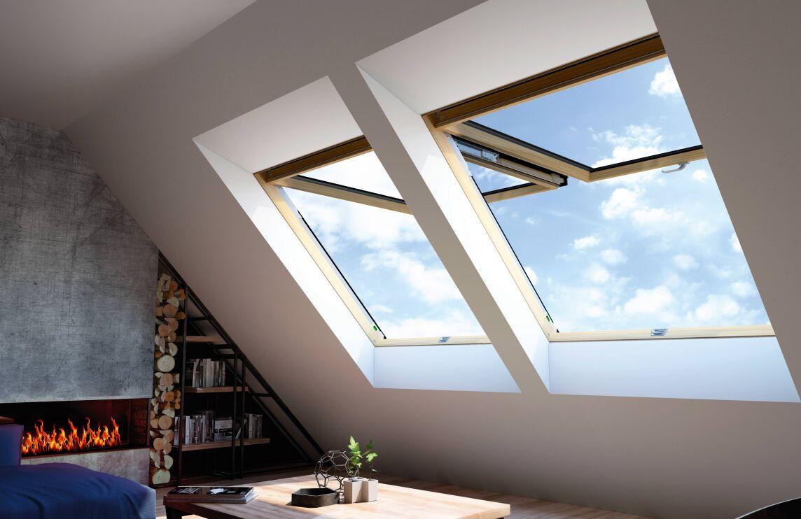 fpp v preselect fakro hat sein klapp schwingfenster. Black Bedroom Furniture Sets. Home Design Ideas