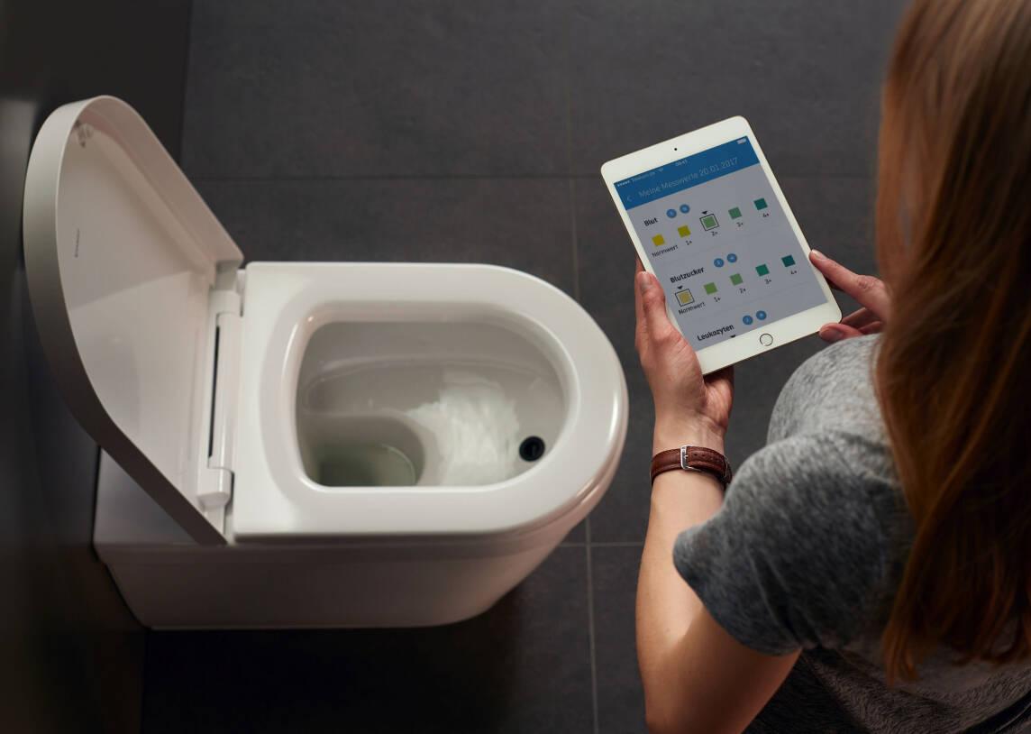 BioTracer: App-gesteuertes WC mit Urinanalyse für 10 Fitness-Indikatoren