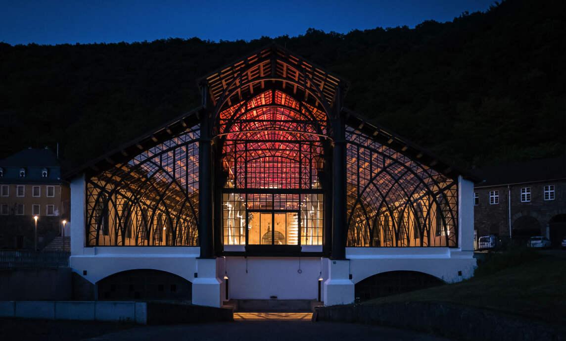 Gießhalle Sayner Hütte, Bendorf - Licht Kunst Licht AG (© Johannes Roloff)