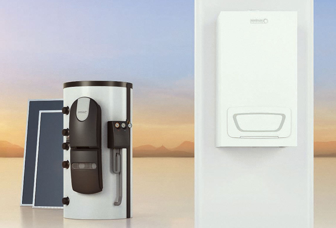 br tjes vorschlag f r eine abgestimmte brennwert solar hybrid heizung. Black Bedroom Furniture Sets. Home Design Ideas