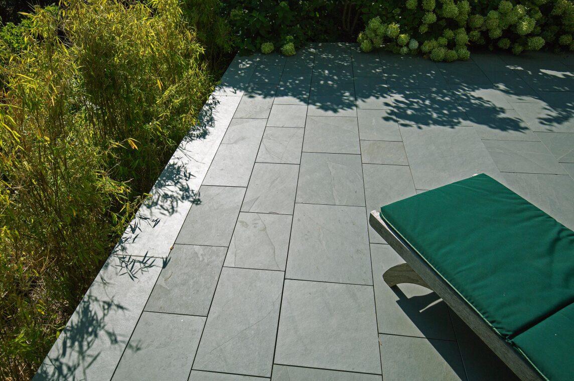 10/10 Grüne bruchraue Schieferplatten für die Terrassse