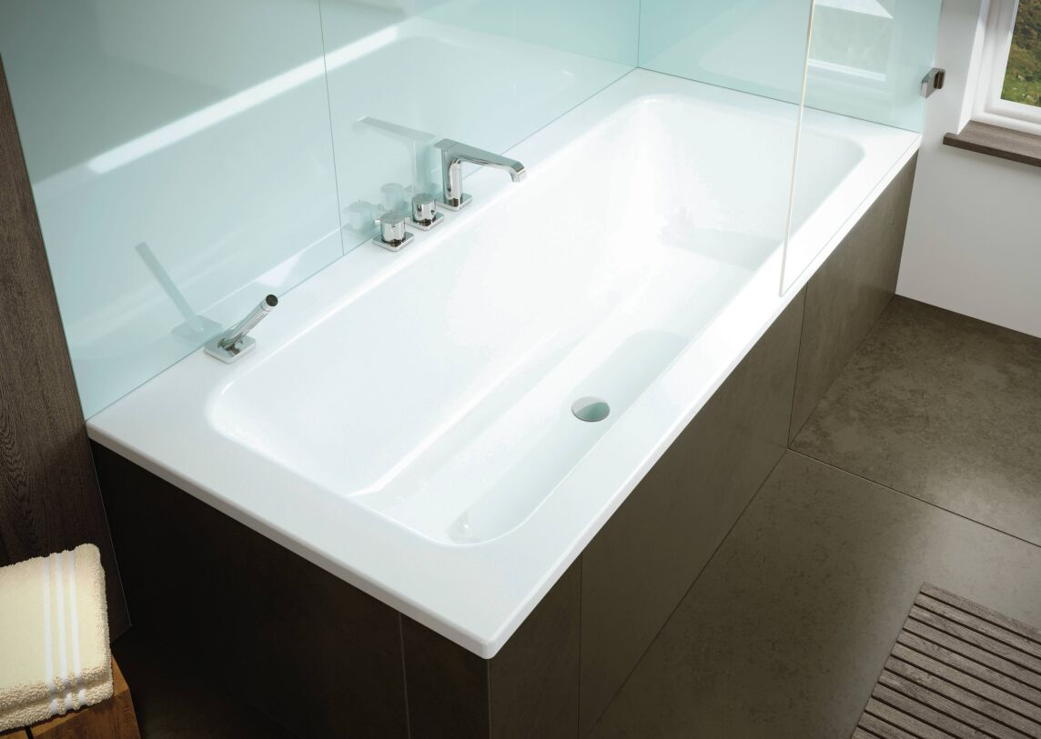 puro set wide kaldeweis erste wanne zum baden und duschen mit mittelablauf. Black Bedroom Furniture Sets. Home Design Ideas