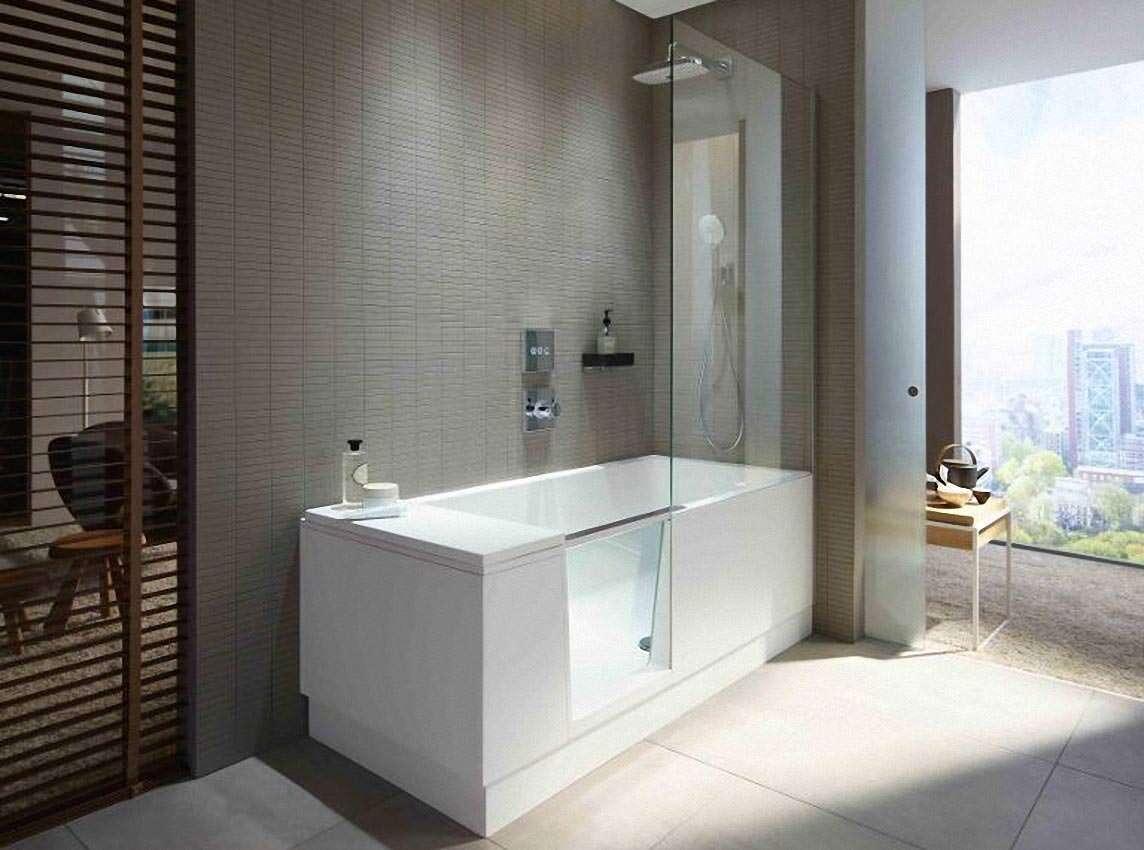 shower bath walk in dusche und badewanne la duravit. Black Bedroom Furniture Sets. Home Design Ideas