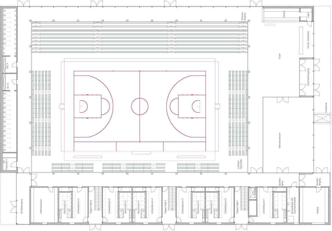 Grundriß EG - Basketball