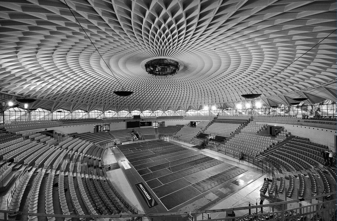 Palazetto dello Sport (kleiner Sportpalast), Rom (I) 1957, Pier Luigi Nervi, Architekt: Annibale Vitellozzi (Foto © Pietromassimo Pasqui)