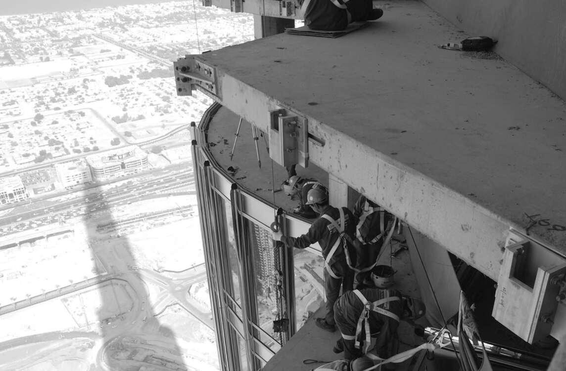 Bauarbeiten am Burj Khalifa, Dubai (VAE) 2010, Bill Baker, Adrian Smith (SOM) (Foto © SOM, Chicago / Emaar Properties PJSC, Dubai)