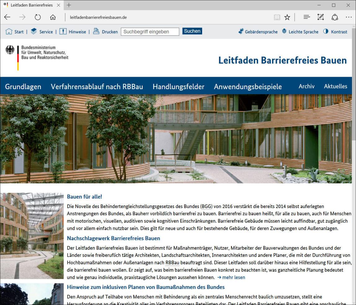 Digitaler Leitfaden Barrierefreies Bauen