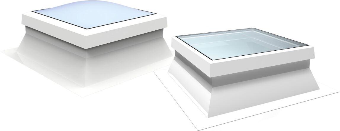 Lichtkuppel Essertop und Flachdachfenster Essersky