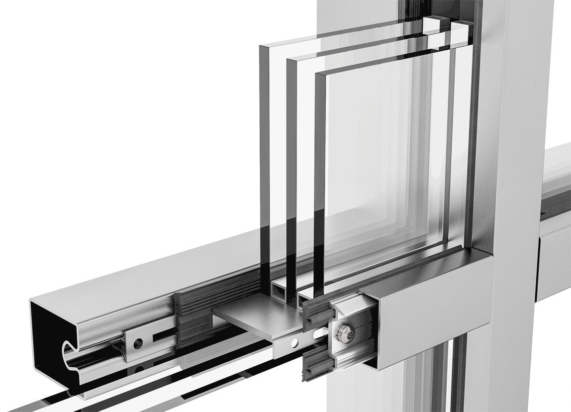 Fensterkreuz im Schnitt mit forster thermfix vario HI
