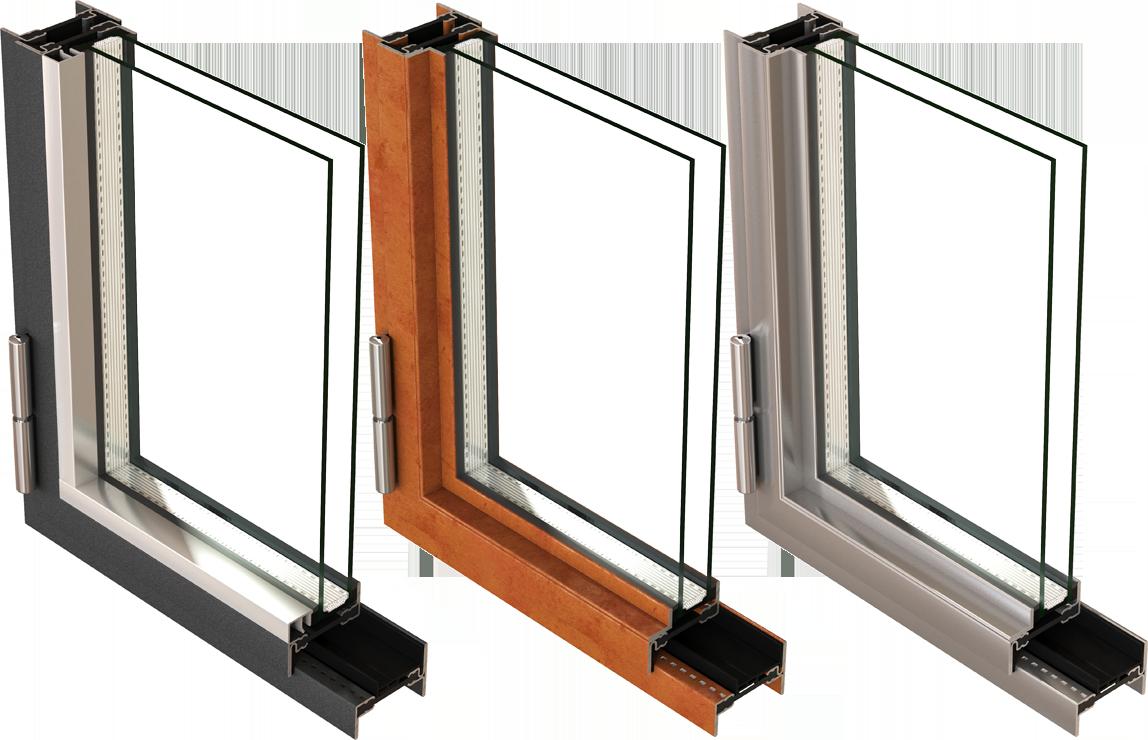 Fenster aus Stahl, Corten-Stahl und Edelstahl
