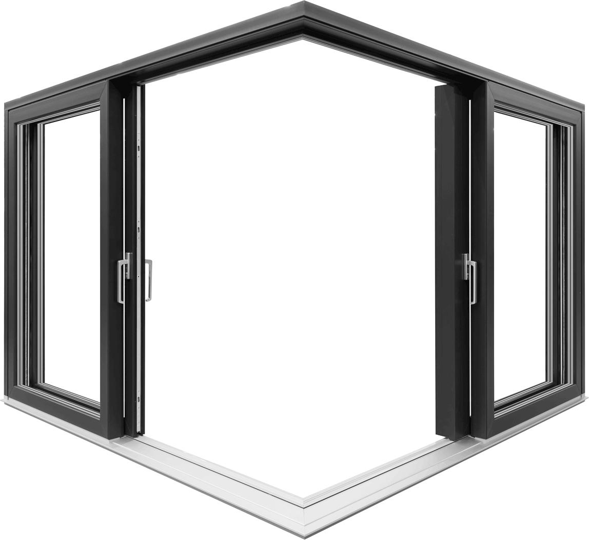 Iglo-HS Hebe-Schiebe-Tür von Drutex über Eck