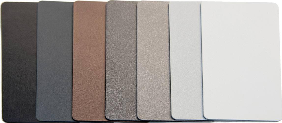 neue aluminiumzargen von k ffner mit griffig rauen und besonders robusten oberfl chen. Black Bedroom Furniture Sets. Home Design Ideas