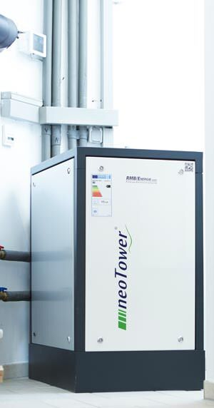 neoTower Living 4.0, BHKW für Mehrfamilienhäuser und kleine Gewerbebetriebe
