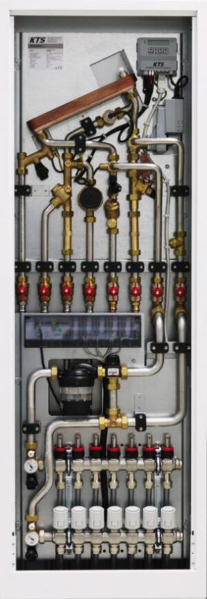 KTS-ThermoStation mit integriertem KTS-Flächenheizungsmodul