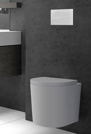 Elektronische WC-Steuerung mit berührungsloser Auslösung
