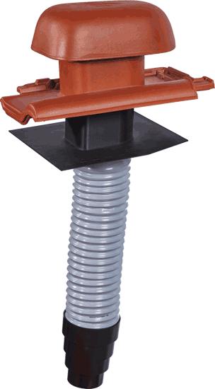 Dunstrohrsystem aus Ton für alle Koramic-Standardmodelle
