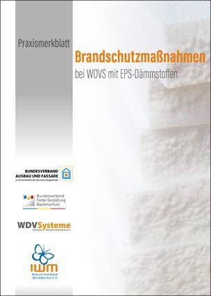 """Praxismerkblatt """"Brandschutzmaßnahmen bei WDVS mit EPS-Dämmstoffen"""""""