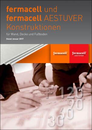 """Broschüre """"Fermacell und Fermacell Aestuver Konstruktionsübersicht für Wand, Decke und Fußboden"""""""