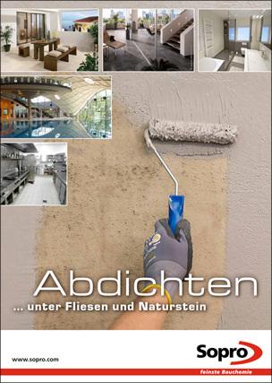 """Broschüre """"Abdichten unter Fliesen und Naturstein"""""""