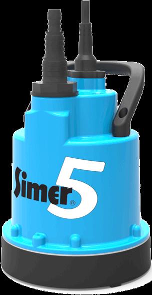 flach absaugende Pumpe Simer 5