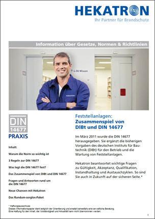 Feststellanlagen: Zusammenspiel von DlBt und DIN 14677