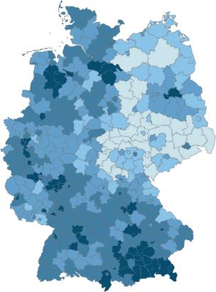 regionale Preisentwicklung 2016 von Ein- und Zweifamilienhäuser