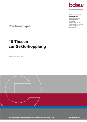 """BDEW-Positionspapier: """"10 Thesen zur Sektorkopplung"""""""
