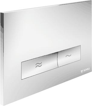 Konkav - WC-Betätigungsplatte von Schell